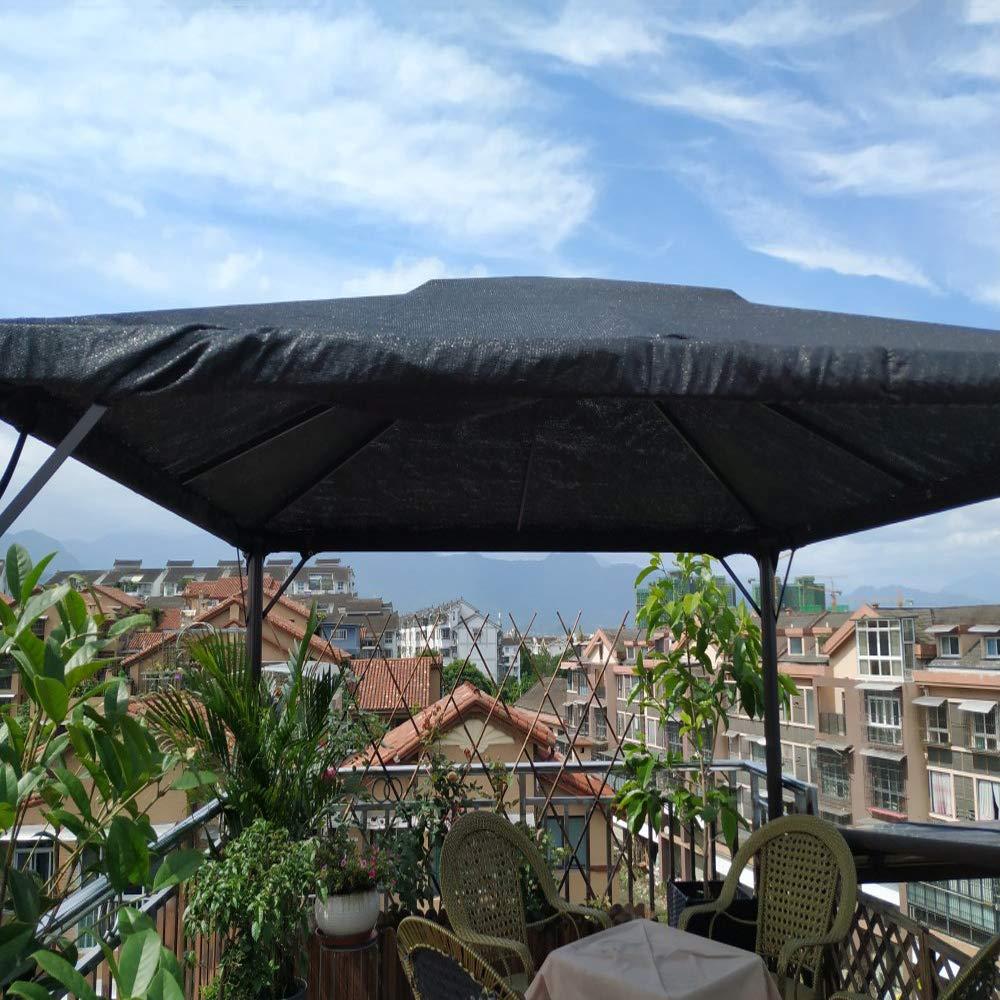LKLXJ 90 % toldo de vela de pergola/rectangular, malla de sombra de jardín de color negro, tamaño completo, toldo compacto y transpirable, valla de privacidad, parabrisas para patio, invernadero, cubierta de granero: