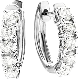 1-5 Carat Huggies Hoop Diamond Earrings 14K Gold Value Collection
