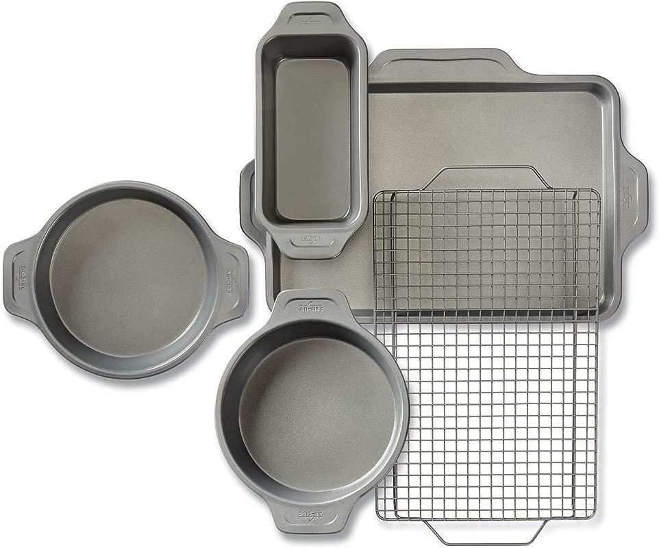 All Clad J2575S64 Pro Release Bakeware Set 5 Piece Grey