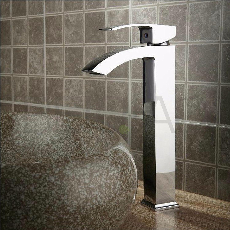 SHLONG Wasserhahn hei und kalt Kupfer Einlochmontage Tisch über Waschbecken Wasserhahn