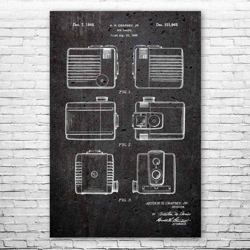 Brownie Camera Poster Print 2020モデル 100%品質保証! Gift Photographer Art
