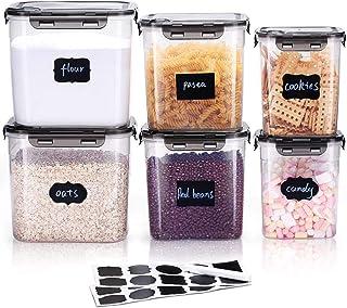 Fagioli,Farina Cereali Spuntini Dittzz Contenitore per Alimenti,7L Scatola per Riso con Misurino,Ermetico Contenitore Scatola di Immagazzinaggio per Riso