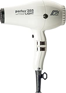 Parlux 385 Powerlight Ceramic & Ionic Dryer 2150W, White