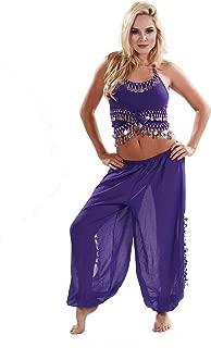 MissBellyDance Harem Pant & Tank Top Belly Dancer Costume Set   SADIQA