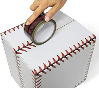 Baseball Stitches Design Cellophane Adhesive Tape Funny Home Decor (Baseball)