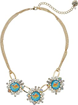 Betsey Johnson - Gold Fish Frontal Necklace