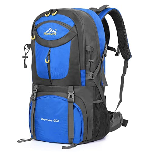 61e137f7e8 VBIGER 60L Hiking Backpack Waterproof Trekking Rucksacks with Rain Cover