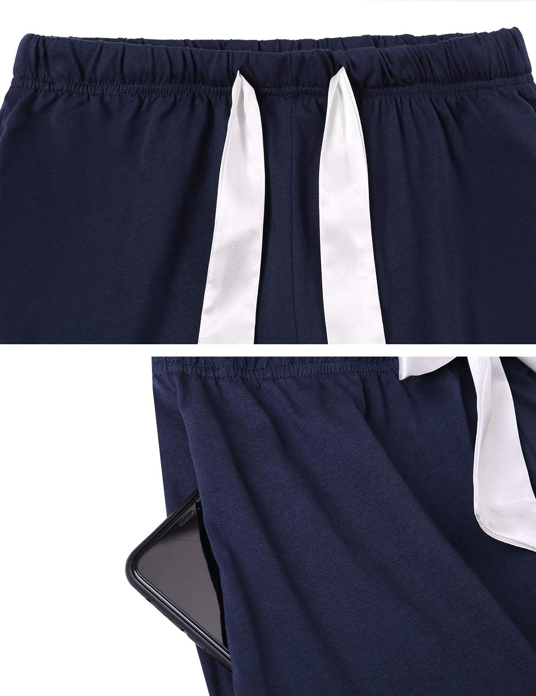Aiboria Womens Cotton Lounge Pants Jogger Yoga Bottoms Comfy Stretch Drawstring Pajamas Pants with Pockets