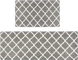 Homcomoda 2Piece Anti Fatigue Kitchen Floor Mat Comfort Heavy Duty Standing Mats Waterproof Non Slip Kitchen Rugs Indoor Outdoor(17