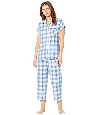 LAUREN Ralph Lauren Rayon Twill Woven Dolman Sleeve His Shirt Capris Pajama Set