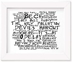 Beck Poster Print - Odelay - Letra firmada regalo arte cartel