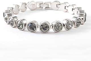 Touchstone Crystal by Swarovski Black Diamond Rhodium Ice Bracelet