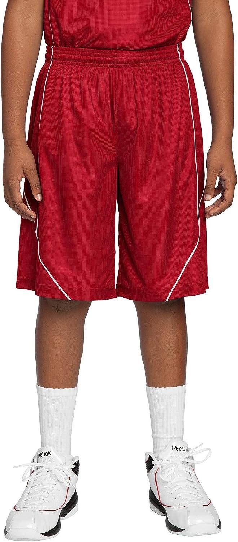 Sport-Tek Boys' PosiCharge Mesh Reversible Spliced Short M True Red