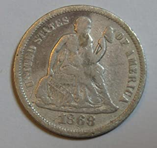 1868 S Seated Liberty Dime Very Fine