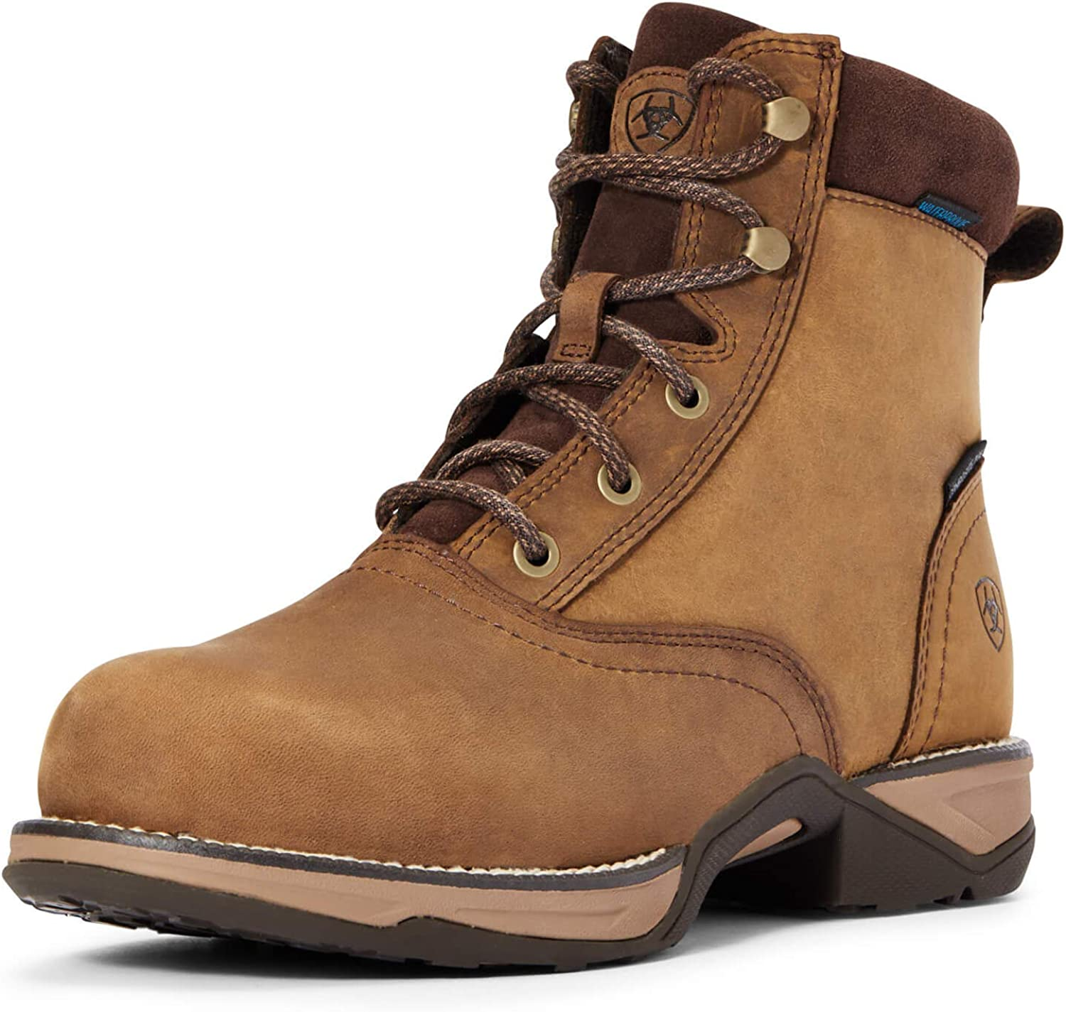 ARIAT Anthem Long Beach Mall Round Toe Lacer Waterproof Boot Work Composite Free Shipping Cheap Bargain Gift