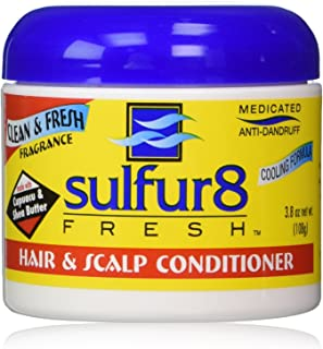 Sulfur 8 Fresh Medicated Anti-dandruff Hair & Scalp Conditioner 4 Oz (3.8 oz net wt.)