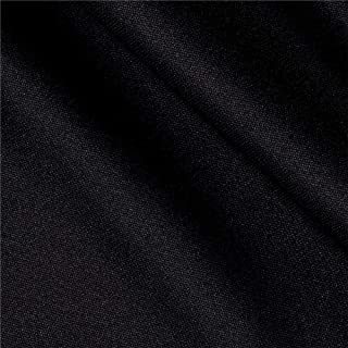 Ben Textiles Double Knit Fabric, Solid Black, Fabric by the yard
