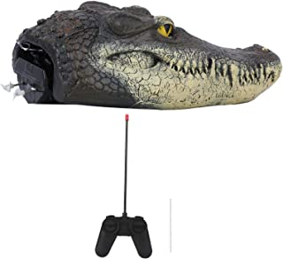 Scarecrow Alligator Decor, Electric Water Toy, High Quality Artificial Crocodile Head Decor, Pond for Home
