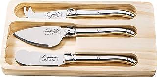 Laguiole Style de Vie Premium Line - Juego de cuchillos para queso (3 piezas, acero inoxidable)