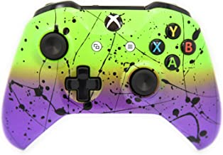 Best Hand Airbrushed Fade Xbox One Custom Controller Compatible with Xbox One (Green & Purple) Review