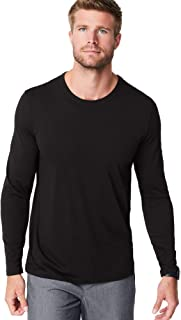 FIGS Ridiculously Soft Long Sleeve Underscrub Shirt for Men — Black, Small