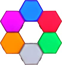 Penophiary Color Hexlight Modular Touch Lights Panels Wall Lighting Tiles Hex Lights Touch Night Light Magnetic Hexagonal ...