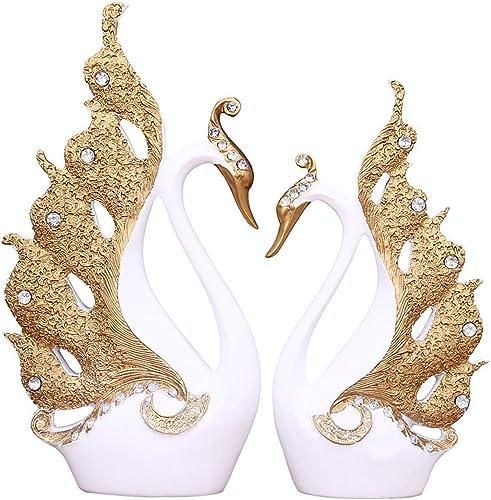 suministramos lo mejor ChaRLes ChaRLes ChaRLes Pareja Swan Ornament House Decoraciones Accesorios Sala De Estar Tv Gabinete Regalos De Boda - blanco  barato