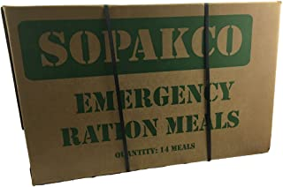 Case of 14 SOPAKCO Sure-Pak MRE Reduced Sodium Emergency Ration Meals - Ready to Eat Factory Sealed and Banded