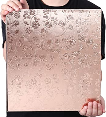 Vienrose Photo Album 4x6 600 Photos Leather Cover Extra Large Capacity for Family Wedding Anniversary Baby Vacation (Rose Gold)