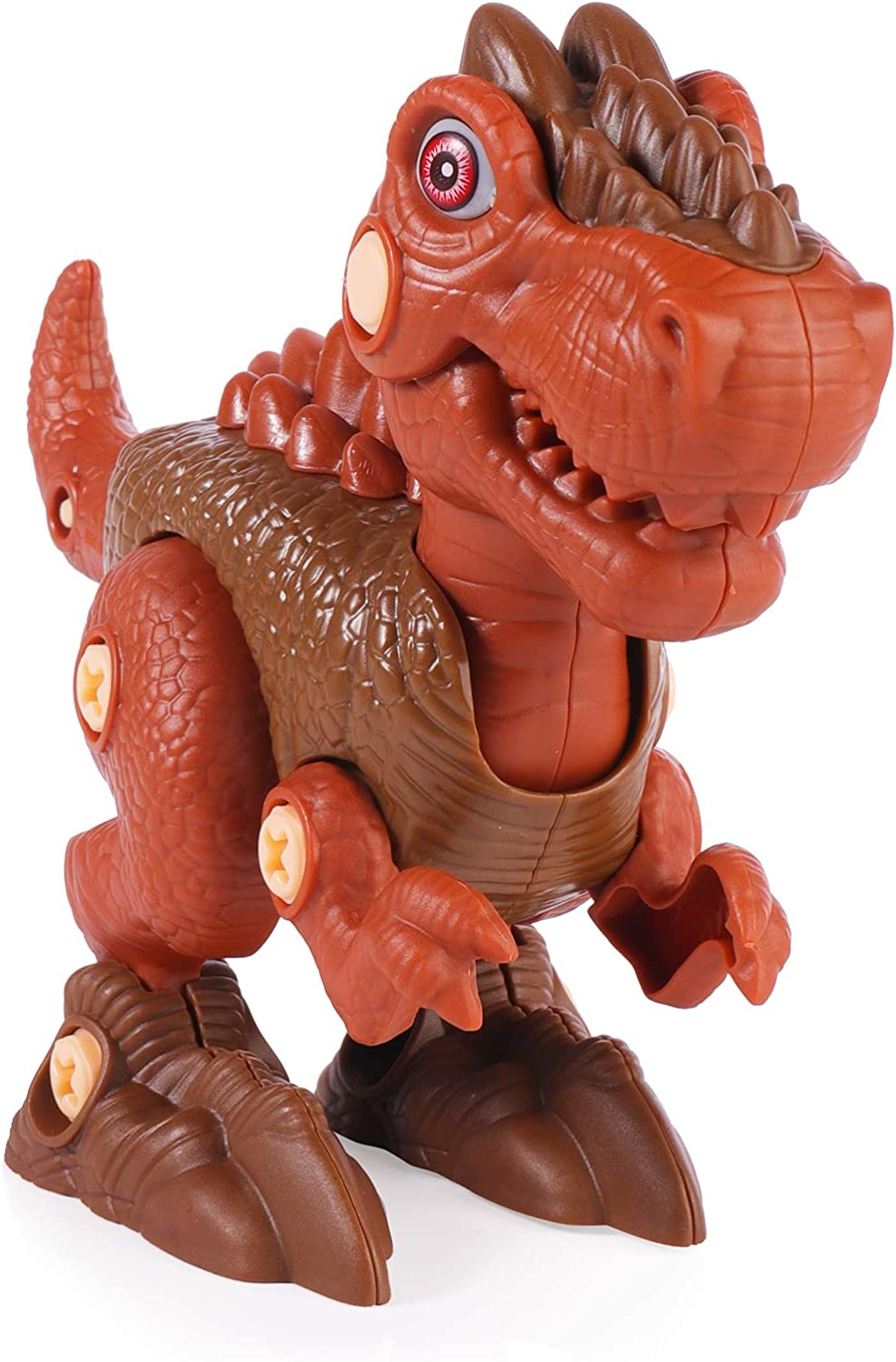 Building Toy Set with Electric Drill,Kids Building Dino Play Kit Construction Engineering Play Kit RS009-1 Kids Dinosaur Toys Brown TOPCHANCES Take Apart Dinosaur Toys for Boys