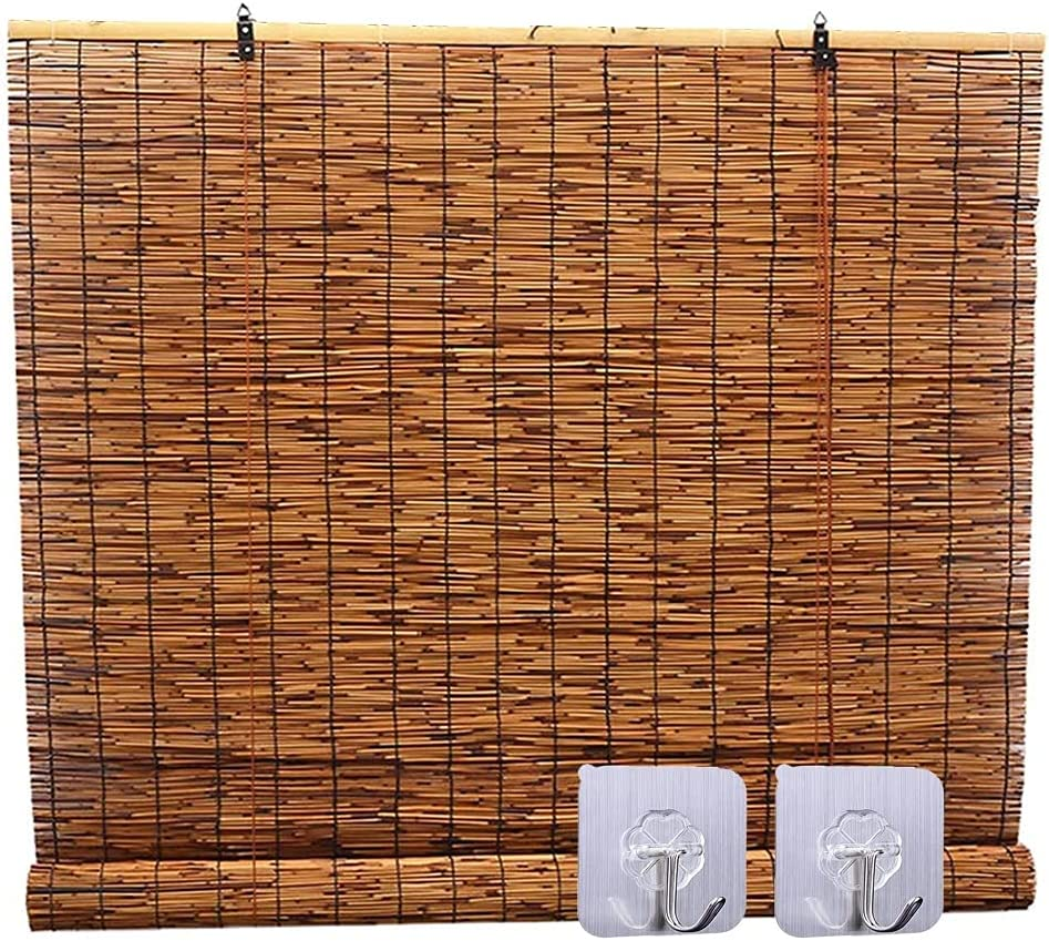 excellence LSXIAO Natural Reed Curtain Roman P Shade Window Sales results No. 1 Blinds Roller
