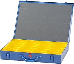 hünersdorff Metalen koffer voor kleine onderdelen 24 inzetdozen, donkerblauw, 1 stuk, 620700