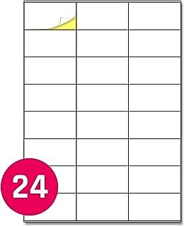 480 Etichette Label Planet/® Etichette di Carta Bianca A4 per Stampanti a Getto dInchiostro e Laser 45.7 x 21.2mm 10 Fogli LP48//45. 48 Par Foglio