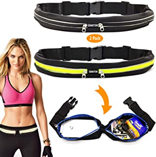 2Pack Sports Running Belt, Dual Pouch Expandable...