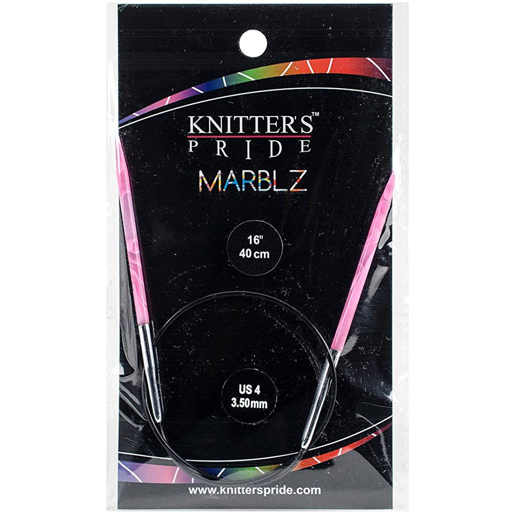 Knitter's Pride 4/3.5mm Marblz Fixed Circular Needles, 16