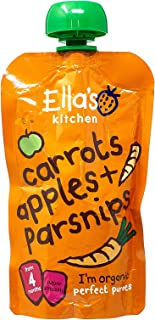 Ella's Kitchen Organic Puree, Carrots, Apples And Parsnip, 120g (Pack of 1)