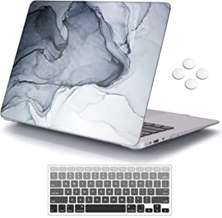 iCasso Plastic Pattern Hard Shell & Keyboard Cover Compatible MacBook 12 Inch Retina Display (Model : A1534), Black White Drawing