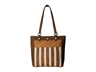 M&F Western Lady Liberty Conceal Carry Tote (Brown) Handbags