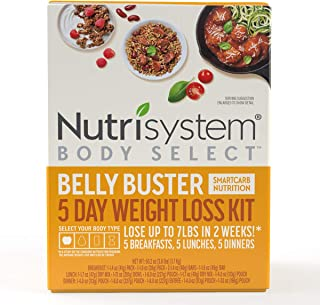 Nutrisystem® Body Select™ Belly Buster 5-Day Weight Loss Kit: Delicious Meals with SmartCarb Nutrition to Help You Lose We...