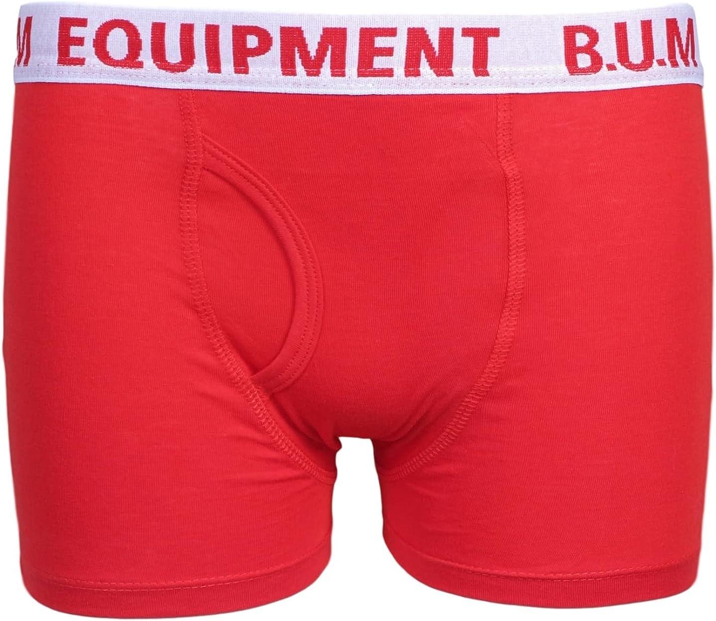 5 Pack Cotton Boxer Briefs Equipment Boys Underwear B.U.M