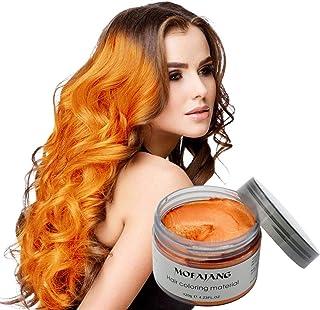 موم رنگ مو موفاژانگ ، موم فوری نارنجی مو ، کرم موی موقت 4.23 اونس ، سموم مو ، موم مدل موی طبیعی زنانه و مردانه Cosplay