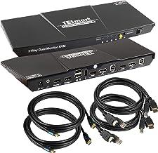 $170 » TESmart DisplayPort + HDMI 4x2 Dual Monitor KVM Switch 2 Port Updated 4K@60Hz