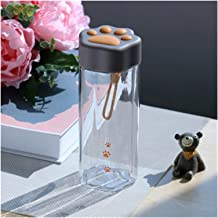 Water Cup Nieuwe Mooie Waterfles Creatieve Leuke Transparante Plastic Melk Drinkbeker Draagbare Anti Fall Cups Met Handvat...