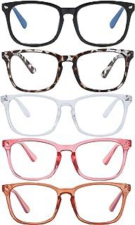 Clear Ant Blue Light Blocking Glasses,Square Nerd Eyeglasses Frame Anti Blue Ray Computer Game Glasses Anti Eyestrain & UV...