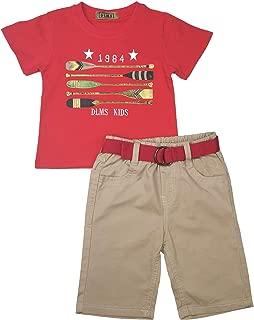 Toddler Baby Boys 2pcs Summer Print T-Shirt Tops+ Shorts Clothes Set Outfit