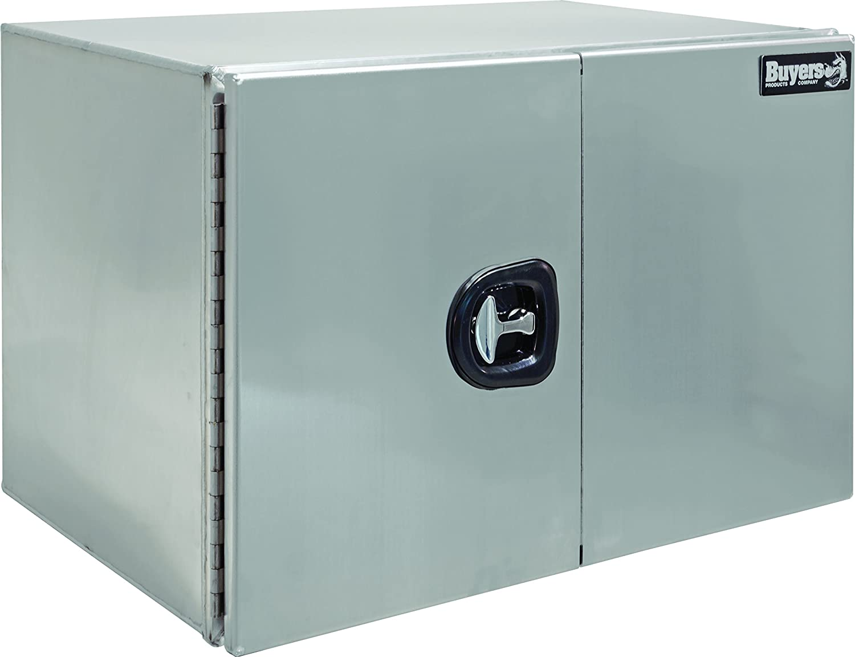 TRIL GEAR 30 Aluminum Tool Box Truck Pickup Underbody Underbed Trailer Storage ATV Silver Dual T-Bar Handles