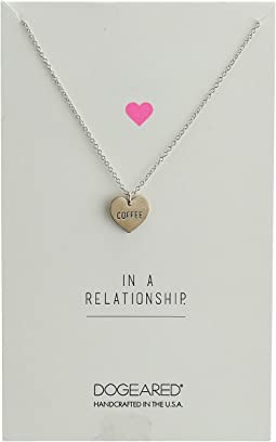 Dogeared - In A Relationship Coffee Conversation Heart Necklace