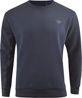 Mens Plain Jumper Crew neck Sweatshirt Casual mens Top