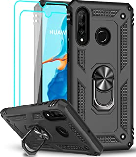 LeYi voor Huawei P30 Lite / P30 Lite Nieuwe editie Case en 2 Gehard glazen schermbeschermer, Ringhouder Militaire kwalitei...