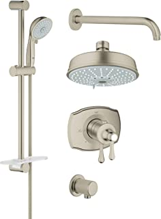 Grohflex Authentic 4-Spray 2-Function Thermostatic Shower System - 2.5 Gpm